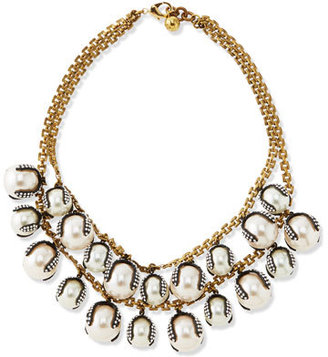 Lulu Frost Decade Simulated Pearl Statement Necklace $588 thestylecure.com