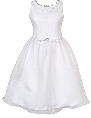 Rare Editions 8-14 Embellished-Bodice Dress