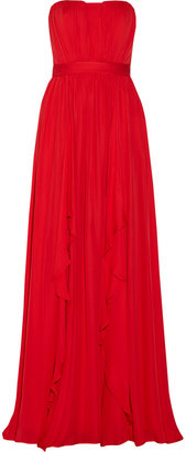 Badgley Mischka Silk-chiffon gown