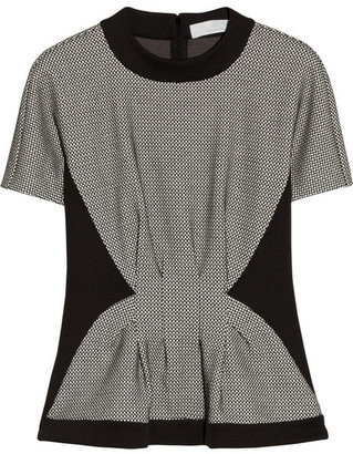 Thakoon Paneled cotton-blend and jersey top