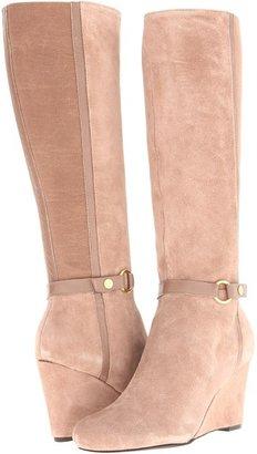 Jones New York Dalby (Natural Suede/Elastic) - Footwear