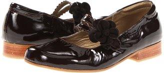 Kid Express Leona (Toddler/Youth) (Dark Brown Patent) - Footwear