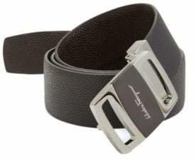 Salvatore Ferragamo Reversible Pebbled Leather Belt