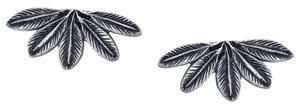 House Of Harlow Antiqued Feather Stud Earrings