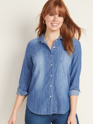 Old Navy Relaxed Chambray Classic Shirt for Women