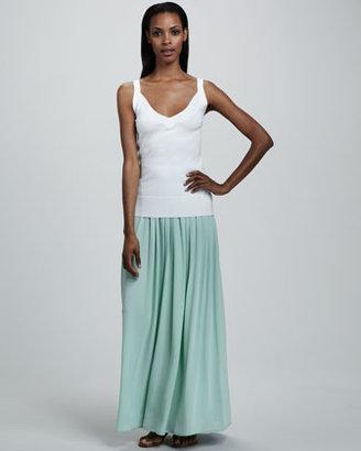 Adrienne Vittadini Pleated Maxi Skirt