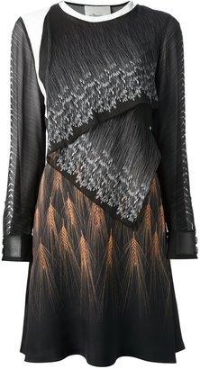 3.1 Phillip Lim layer wheat print dress