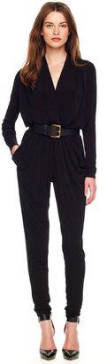 Michael Kors Belted Jersey Jumpsuit