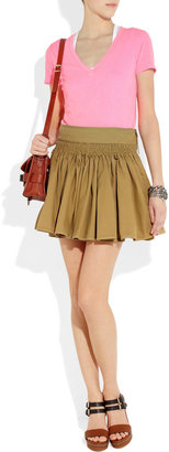See by Chloe Flared cotton-twill mini skirt