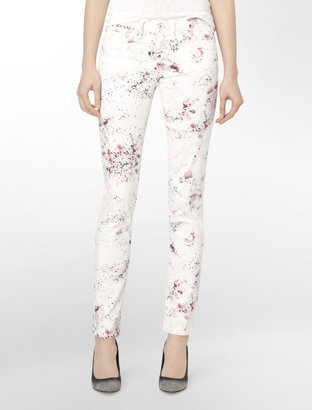 Calvin Klein Abstract Splash Paint Ultimate Skinny Jeggings