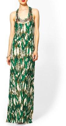 Vince Sabine Ikat Maxi Knit Dress