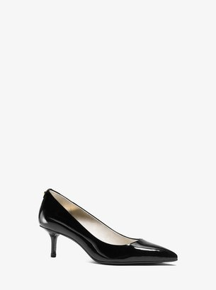 MICHAEL Michael Kors Flex Patent-Leather Kitten-Heel Pump