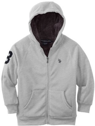 U.S. Polo Assn. Big Boys' Sherpa Lined Fleece Hoooded Jacket