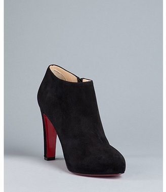 Christian Louboutin black suede 'Vicky Booty 120' ankle boots
