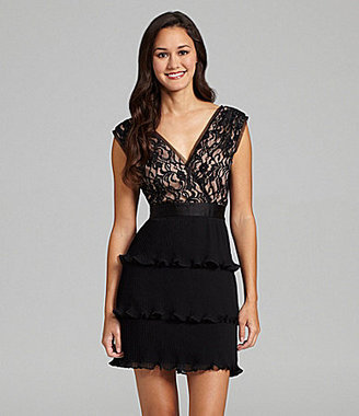 Max & Cleo Lillian Tiered Cocktail Dress