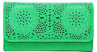 Jessica Simpson Tamara Perforated Flap Checkbook Wallet