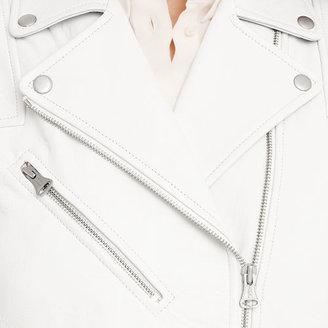 Club Monaco Eli Leather Moto Vest