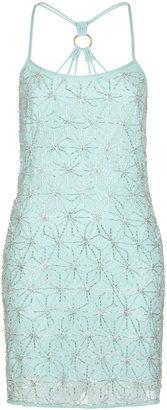 Topshop Hexagon Strappy Slip Dress