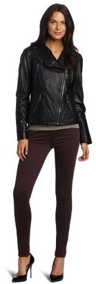 MICHAEL Michael Kors Women's Asymetrical Zip Front Jacket