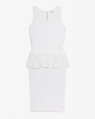 Intermix Exclusive For Peplum Mesh Knit Dress