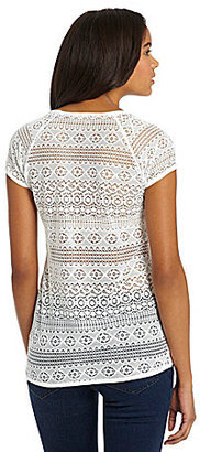 Vince Camuto TWO by Lace-Black Jersey Tee