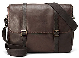 Fossil Burnished Leather Estate Messenger Bag