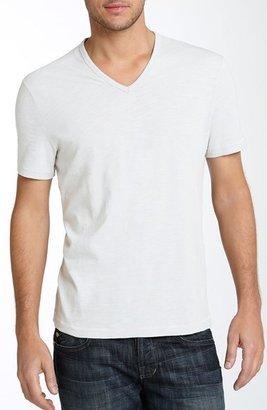 John Varvatos Trim Fit Slubbed V-Neck T-Shirt (Men)