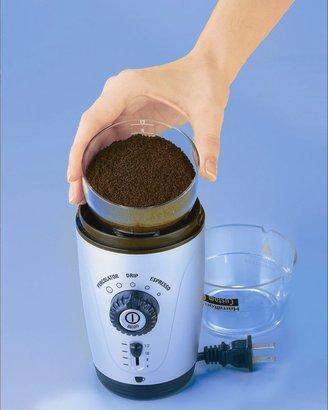 Hamilton Beach 80365 Custom Grind Hands-Free Coffee Grinder, Platinum