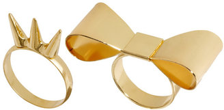 Asos Bow & Spike Ring Pack