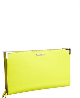 Rebecca Minkoff neon yellow leather 'Jimmy' oversized wallet