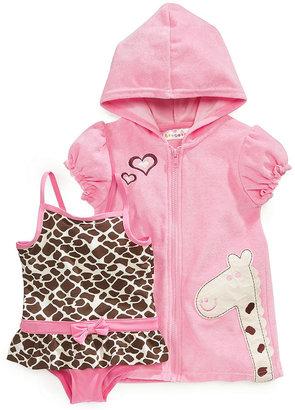 Wippette Toddler Girls' Swimsuit & Giraffe Cover-Up Set