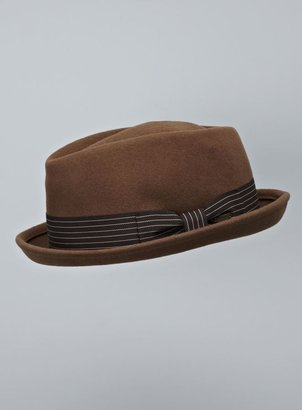 Scala Felt Diamond Crown Striped Fedora