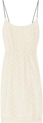 J.Crew Cotton-blend lace and chiffon dress