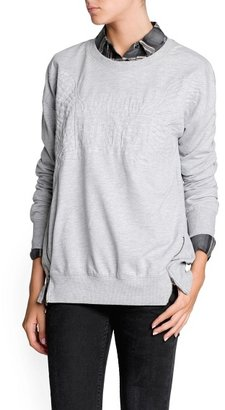 MANGO Outlet Zipped Side Quilted Sweatshirt