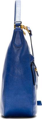 Marc by Marc Jacobs Royal Blue Globetrotter Kirsten Hobo Bag