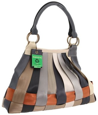 Harveys Seatbelt Bag - Treecycle Large Stella Hobo (Grey) - Bags and Luggage