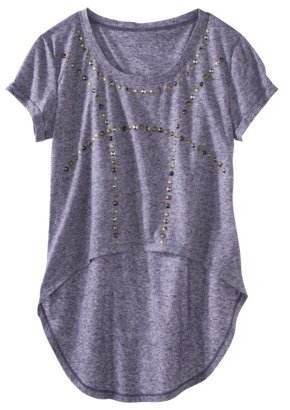 Xhilaration Juniors High Low Top with Studs - Assorted Colors