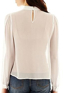 JCPenney I 'Heart' Ronson® Edwardian Blouse