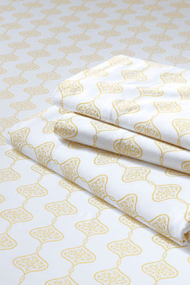 Lands' End 200-count Medallion Print Fitted Sheet