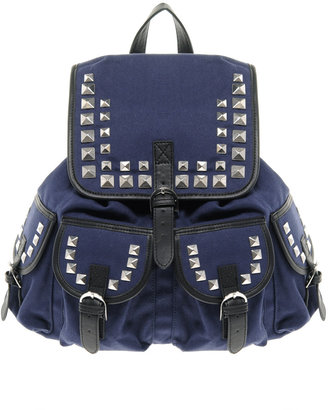 Asos Studded Canvas Backpack