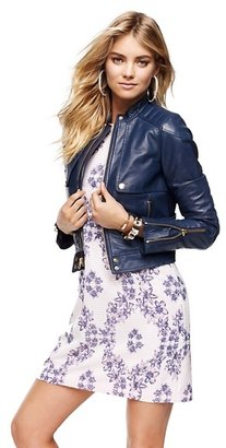 Juicy Couture Solid Leather Moto Jacket