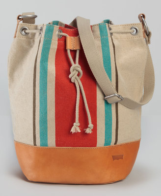 Levi's Linen Stripe Bucket Bag