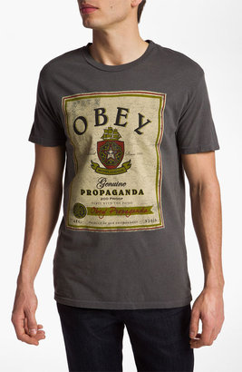 Obey 'Whiskey Label' Graphic T-Shirt