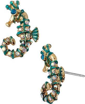 Betsey Johnson Sea Jewels Seahorse Stud Earring
