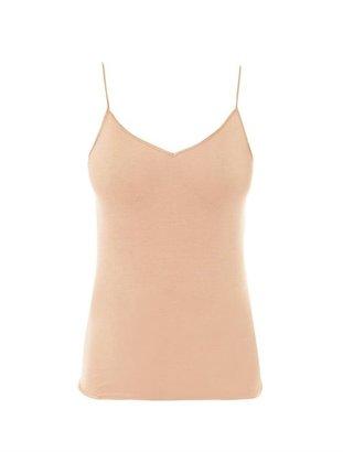 Hanro Seamless V-neck Cami Top - Womens - Nude