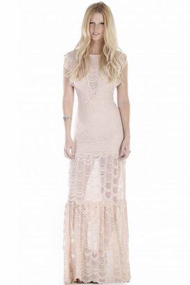 Nightcap Clothing Caletto Maxi Dress in Nude