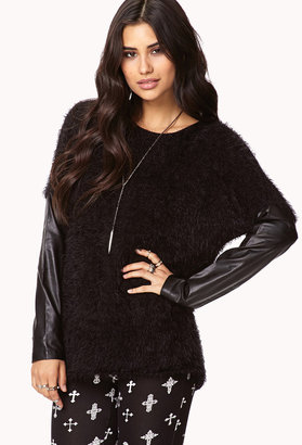 Forever 21 Tough Side Fuzzy Sweater