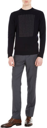 Barneys New York agnès b. x Houndstooth Front Sweater