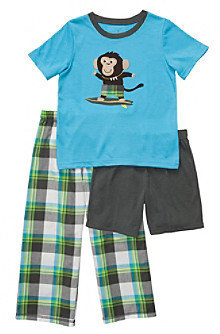 Carter's Boys' 4-12 Turquoise 3-pc. Surf Monkey Pajama Set