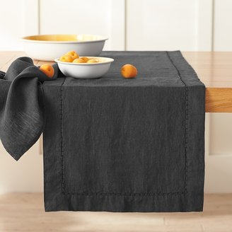 Williams-Sonoma Washed Table Linens Black Collection